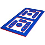 Floatation iQ BattlePong - Floating Battleship/Beer Pong Pool Game - Made in the USA w/Durable (PE) Tear Resistant Foam (Jumbo, Red/Blue)
