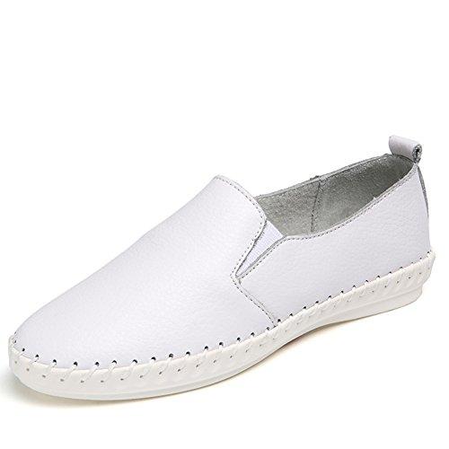 El pequeño blanco zapatos de las mujeres/zapatos planos de las mujeres/Luz de cabeza zapatos/zapatos de mujer casual suave A
