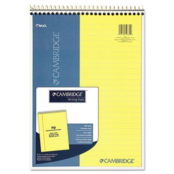 (Cambridge 59880 Premium Wirebound Legal Pad, Legal Rule, 8 7/8 x 11, Canary Paper, 70 Sheets (MEA59880))