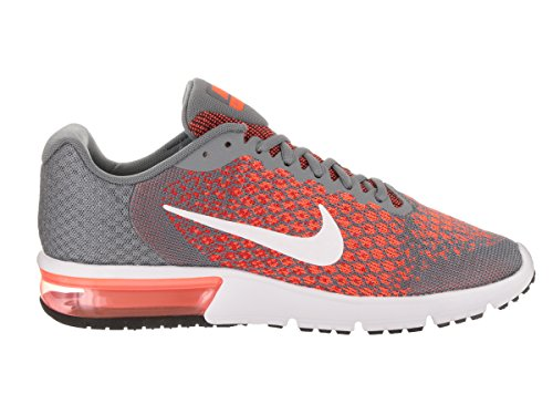 NIKE pour 8 Cool de D White M hommes Air Sequent 2 Orange US 5 Grey Max Max course Chaussures BERgqAwxSw