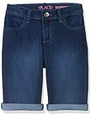 The Children's Place Girls Size Slim Denim Skimmer Shorts