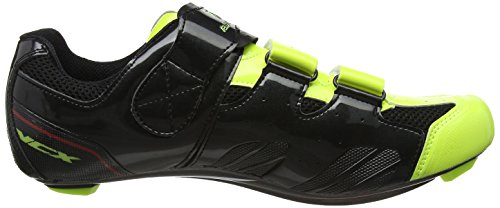 cyclistes Black carbone Shoes semelles VCX Yellow paire Chaussures avec de VeloChampion Cycle fibres Fluoro qO8wx