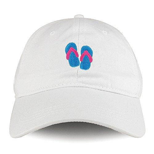 Trendy Apparel Shop Flip Flop Emoticon Design Embroidered Cotton Unstructured Dad Hat - ()