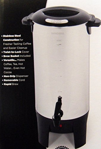 EUROSTAR ES50 10 to 50 Cup Coffee (50 Cup Stainless Urn)