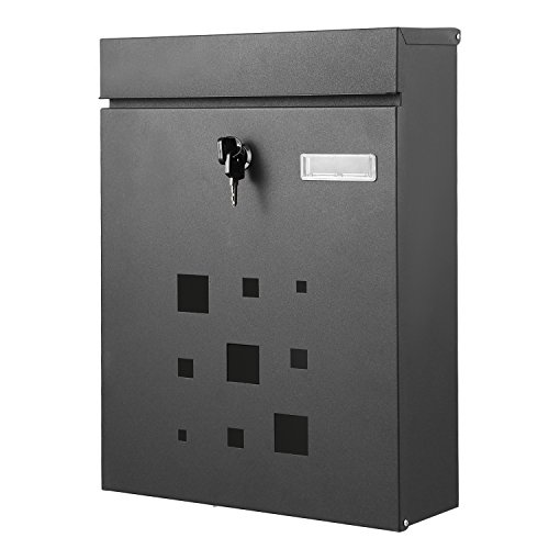 Homdox Galvanized Steel Locking Drop Box Wall Mounted
