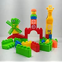 FunBlast™ Learning Blocks for Kids with Cartoon Figures, Bag Packing, Best Gift Toy, Multicolor (Set of 35 Pcs)