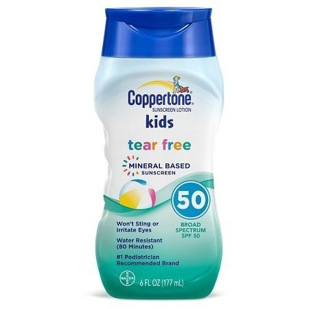 - Coppertone Kids Tear Free Sunscreen, SPF 50, 6oz. Per Bottle (2 Pack)