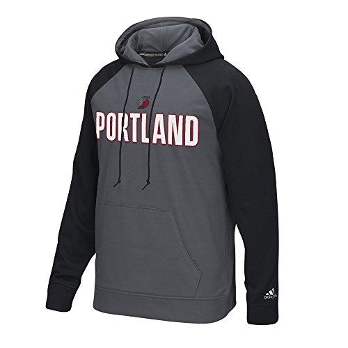 NBA Portland Trail Blazers Men's Tip-Off Pullover Hoodie, Medium, Gray (Adidas Mens Fleece Nba Trailblazers)