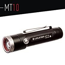 LED Lenser 880380 MT10 Outdoor Series Rechargeable LED Flashlight, 1000 Max Lumens, Black