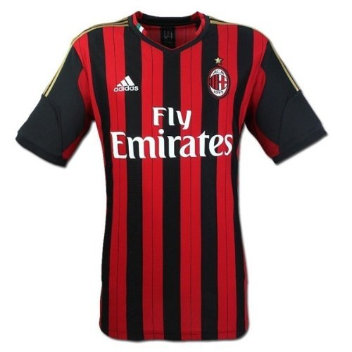 cheaper 1e86c bd556 Amazon.com : Adidas AC MILAN HOME JERSEY 2013-2014 (XL ...