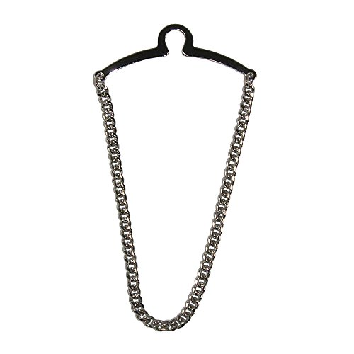 - Competition Inc. Men's Single Loop Tie Chain, Silver