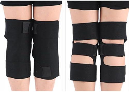 ETbotu Geschenke für Frauen – 1 Paar magnetische Therapie Knie-Leggings Bandage warme Unterstützung Knieschoner verstellbar Knie-Massagegerät Gesundheit Pflege