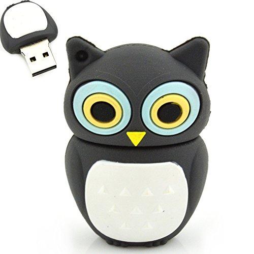 32GB Cute PVC Owl USB Flash Disk (Gray)