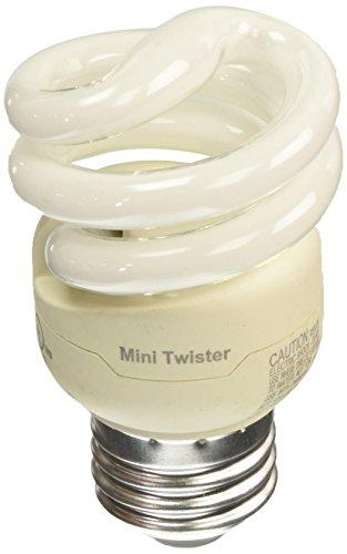 Philips 417063 9 Watt Energy Saver Compact Fluorescent Mini-Twister Light Bulb, Soft White, 4 Pack, Piece