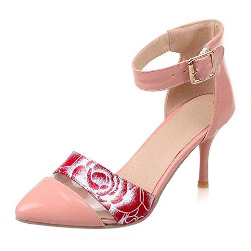 Stiletto Schuhe Hochzeit Rosa Patent Heels Kleid Sandalen CoolCept Party Büro Gedicht Frauen Fvq5SwS