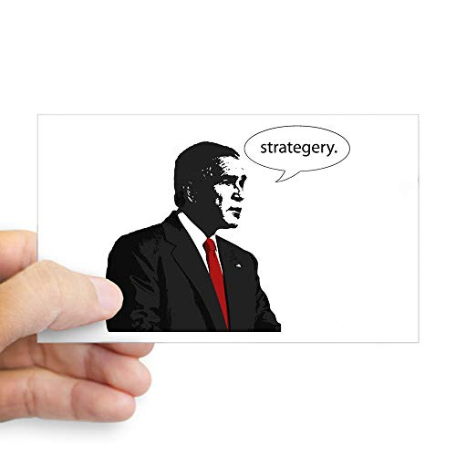 - CafePress Strategery Rectangle Sticker Rectangle Bumper Sticker Car Decal