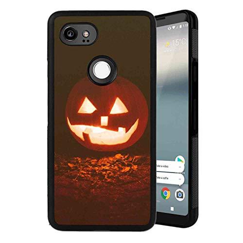 Case Fit for Google Pixel 2 XL (2017) Pumpkin Fall Gourds Halloween Autumn Zedgepumps18 JackoLantern Smile -