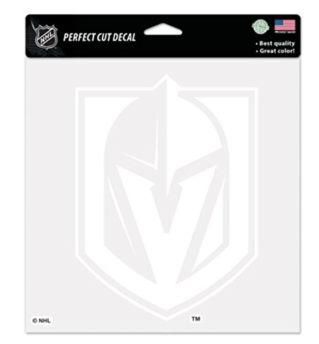 Wincraft NHL Official Vegas Golden Knights 8x8 inch White Perfect Cut Decal ()