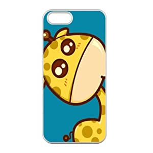 Welcome!Iphone 5/5S Cases-Brand New Design Cute Giraffe Printed High Quality TPU For Iphone 5/5S 4 Inch -04