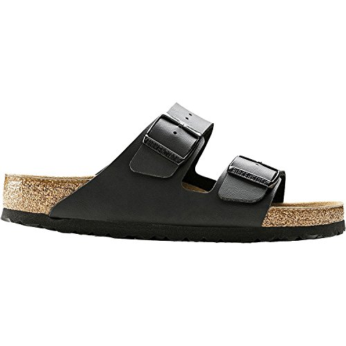 Birkenstock Unisex Arizona Black Birko-flor Sandals - 8-8.5 B(M) US Women