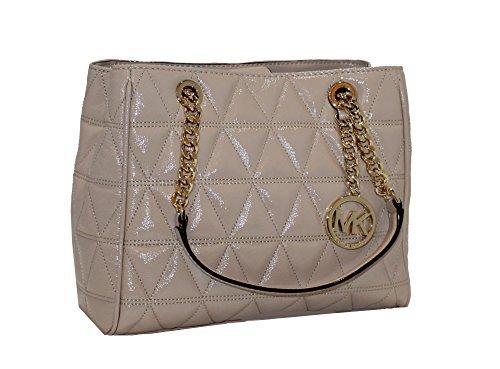 3dc89f18ec06 Galleon - MICHAEL Michael Kors Women's Susannah Medium Tote Leather Handbag  (Oyster)