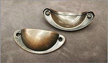 Mango de Muebles Bot/ón,98mm Pomos Retro Metal Muebles Cocina Armario Caj/ón con Tornillos 10 piezas Tiradores Concha Vintage Plateado