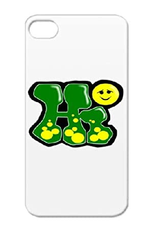 """Amazon.com: TPU Green Cover Case For Iphone 4s """"Hi†..."""