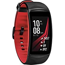Samsung Gear Fit2 Pro Fitness Smartwatch (Small) - Red (Renewed)