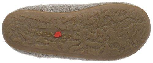 Haflinger Everest Pablo - Zapatillas de casa de lana niño beige - Beige (46 beigemeliert öko)