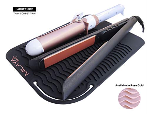 Professional Silicone Heat Resistant Styling Station Mat for All Hair Irons, Curling Iron,...