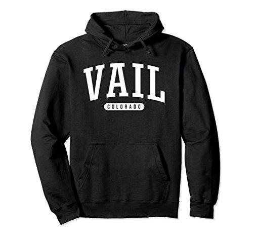 Unisex Vail Hoodie Sweatshirt College University Style CO USA Large Black
