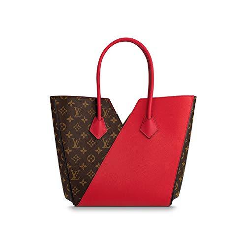 Price comparison product image Paper-LV Monogram Canvas Kimono PM Cherry / Noir / Taupe Glace Shoulder Handbag for women (Cherry)