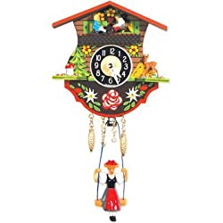 Engstler Christmas Decor Battery-Operated Clock - Mini Size - 4.5H X 4.5W X 2.25D by Black Forest