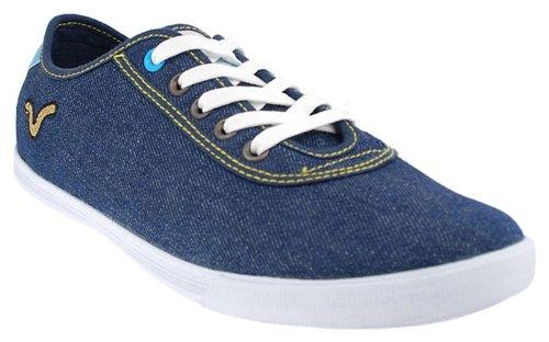 Voi Jeans Chaussures en Toile pour Homme senitor Denim/Blanc.