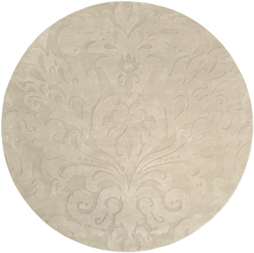 Candice Olson by Surya Sculpture SCU-7511 Transitional Hand Loomed 100% Wool Putty 8' Round Area Rug (Surya 8' Round Sculpture)