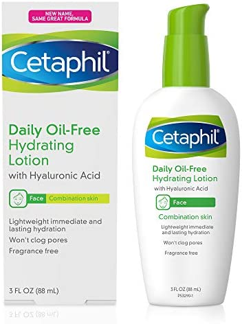 Cetaphil Face Moisturizer, Daily Oil-Free Hydrating Face Lotion with Hyaluronic Acid, 3 Oz Package May Vary – Medlancr.com
