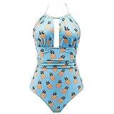 Swimwear for Women One Piece,TADAMI Sexy Backless Tummy Control Monokini Bathing Suit Bikini Swimsuits Top Blue
