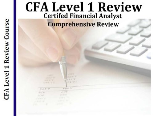 Cfa Level 1 Chartered Financial Analyst 5 Hour Audio Review Course  5 Hours  5 Audio Cds  Updated 2018