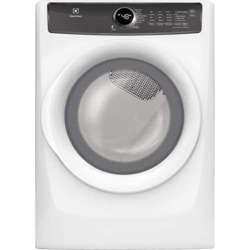 Electrolux EFMG427UIW 27 Inch Gas Dryer with 8 cu. ft. Capacity, 7 Dry Cycles, 4 Temperature Settings, Steam Cycle, in White