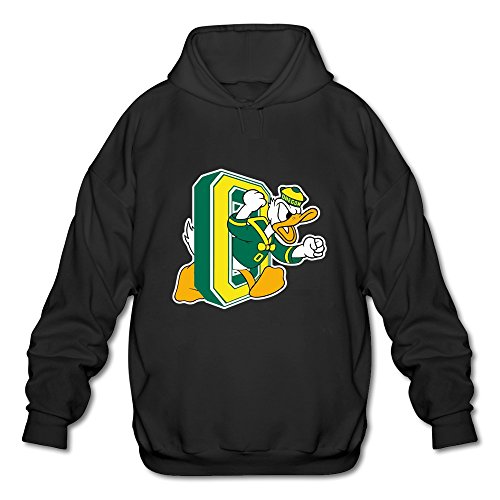 [JeFF Men's University Of Oregon Ducks Logo Long Sleeve Sweatshirt Hoodies Black Medium (US Size)] (Customes Halloween Maternity)