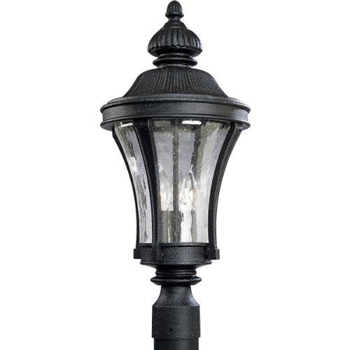 71 Nottington Gilded Iron - Progress Lighting P5438-71 3-Light Nottington Post Lantern, Gilded Iron