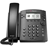 POLYCOM VVX 300 6-line Desktop Phone with HD Voice PoE without Power Su (Certified Refurbished)