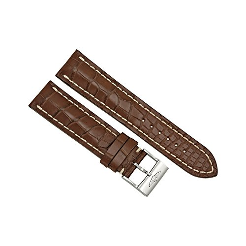 Breitling Brown Crocodile Leather 22mm - 20mm Strap with Stainless Steel Buckle by Breitling
