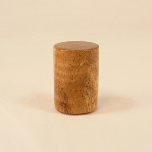 Wood Lamp Finial Spalted Curly Maple Drum Pattern 2
