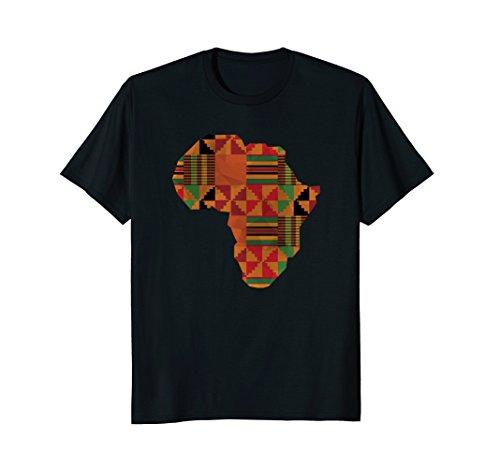 AFRICA Shirt, Africa Kente Map Of Africa T-Shirt (Map T-shirt Africa)