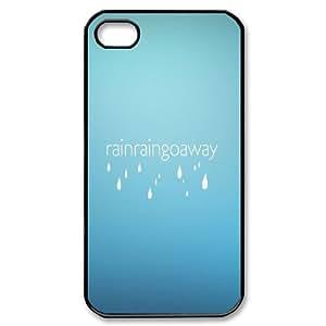 Case for IPhone 4/4s, Rain Rain go Away Case for IPhone 4/4s, Dustin Black