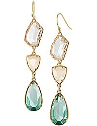 Elegant Women's Dangle Earrings Made with Australian Crystals with Cute Jewelry Box for Wedding Bridal
