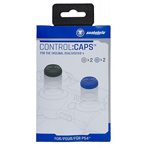 Amazon.com: Snakebyte Control:Caps - 4x Thumb Grips for Playstation 4 (2x Black/ 2x Blue): Video Games