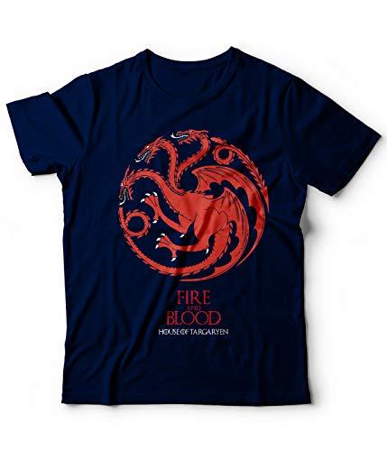 Got Daenerys Targarien Of Snow 251 Navy shirt Throne Logo Tshirt Blu T Game Jon wFIBq0x6