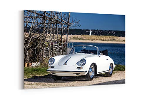 Porsche 356B 2000 Gs Carrera 2 Cabriolet 1962 - Canvas Wall Art Gallery Wrapped 12